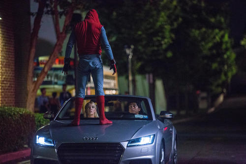 Spider-Man drives an Audi