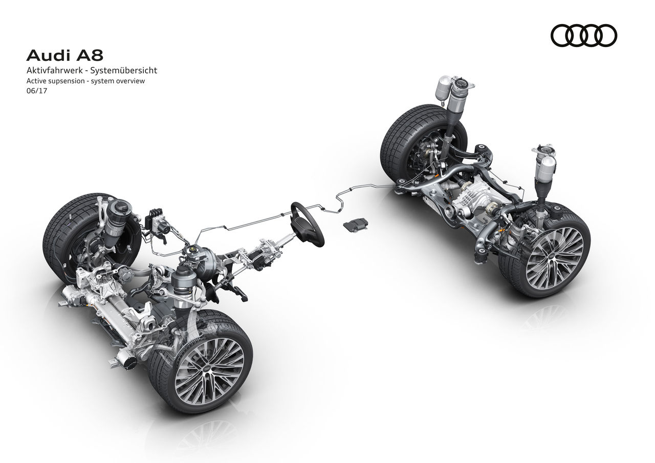 looking ahead to the new audi a8 fully active suspension offers