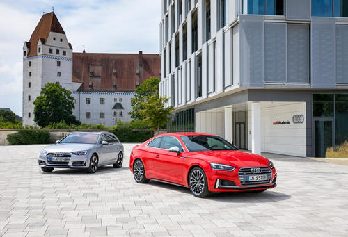 On the road with the Audi A4 Avant and Audi S5 Coupé in Ingolstadt