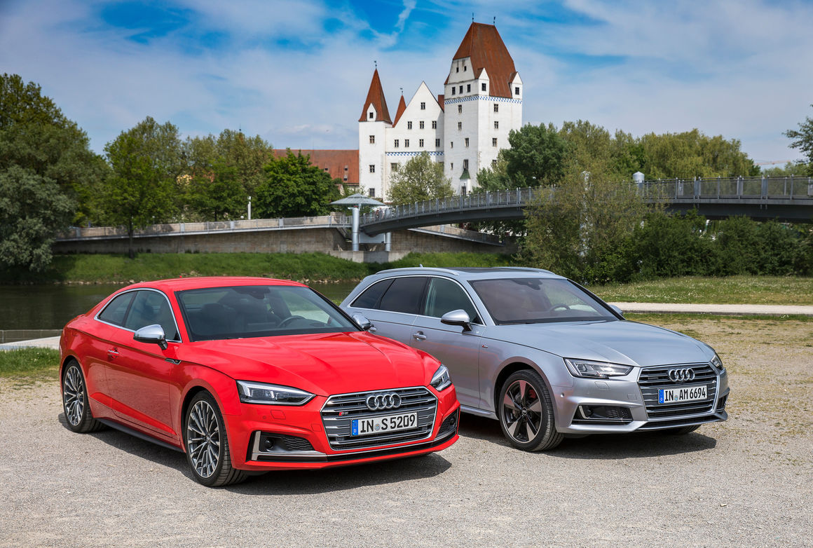 Audi audi a4 coup : On the road with the Audi A4 Avant and Audi S5 Coupé in Ingolstadt ...