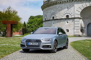 On the road with the Audi A4 Avant in Ingolstadt