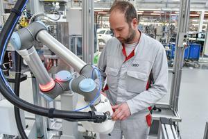 Mensch Roboter Kooperation: KLARA ermöglicht größere Variantenvielfalt in der Audi Produktion