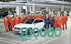 Audi Hungaria: 100,000th car leaves production line at new plant