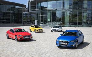 The in Ingolstadt produced Audi models united at the Audi Forum