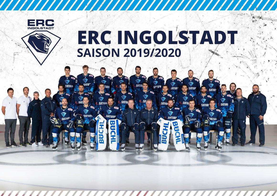 Die Mannschaft des ERC Ingolstadt