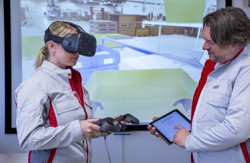 Audi schult Logistikmitarbeiter mit Virtual Reality