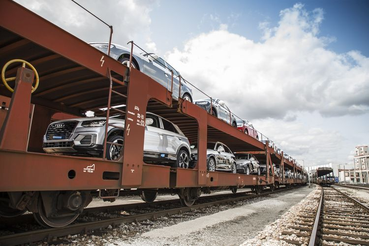Audi transport with DB Cargo CO2-free all over Germany
