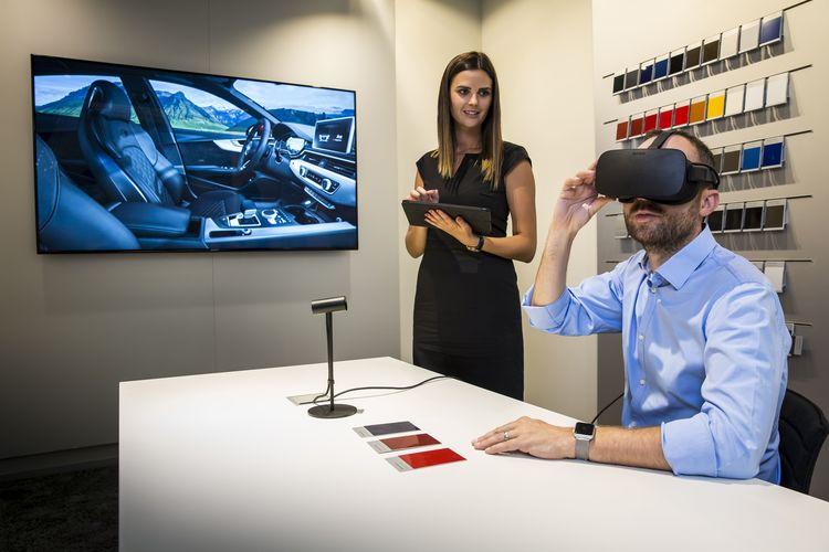 Audi startet Virtual Reality im Autohaus