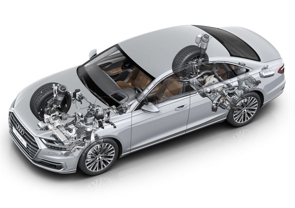 Audi AI active suspension in the Audi A8