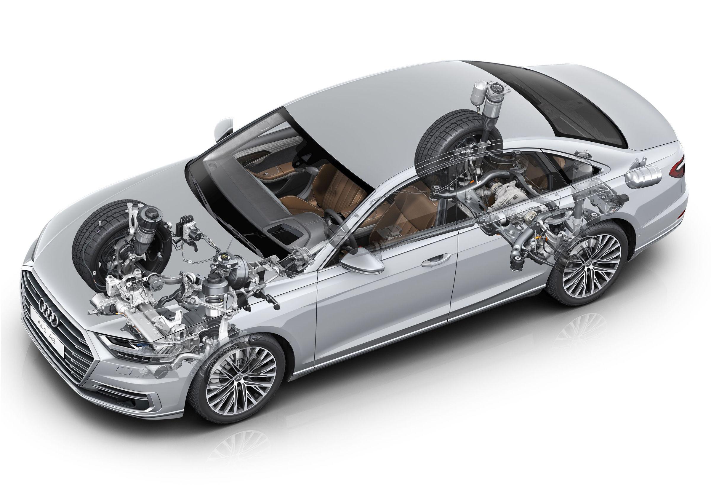 Vorausschauendes Aktivfahrwerk im Audi A8