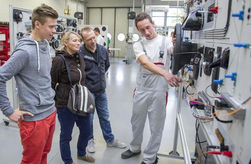 Berufswelt hautnah - Tag der offenen Tür im Audi Bildungswesen in Ingolstadt.