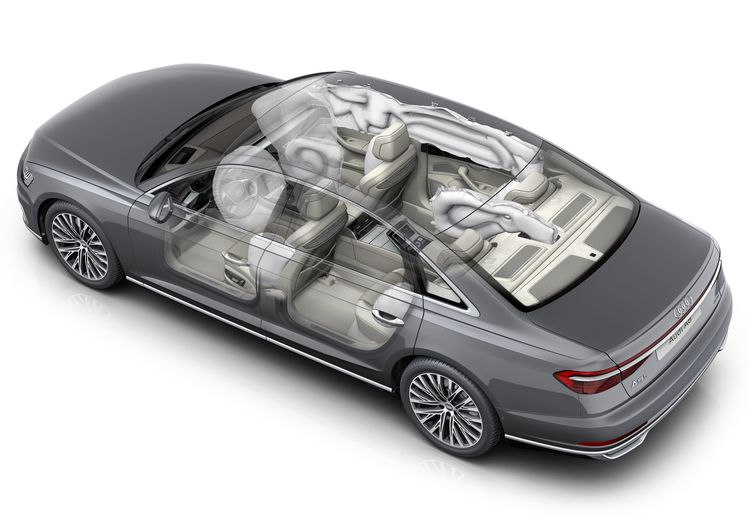 Airbags in the Audi A8 L