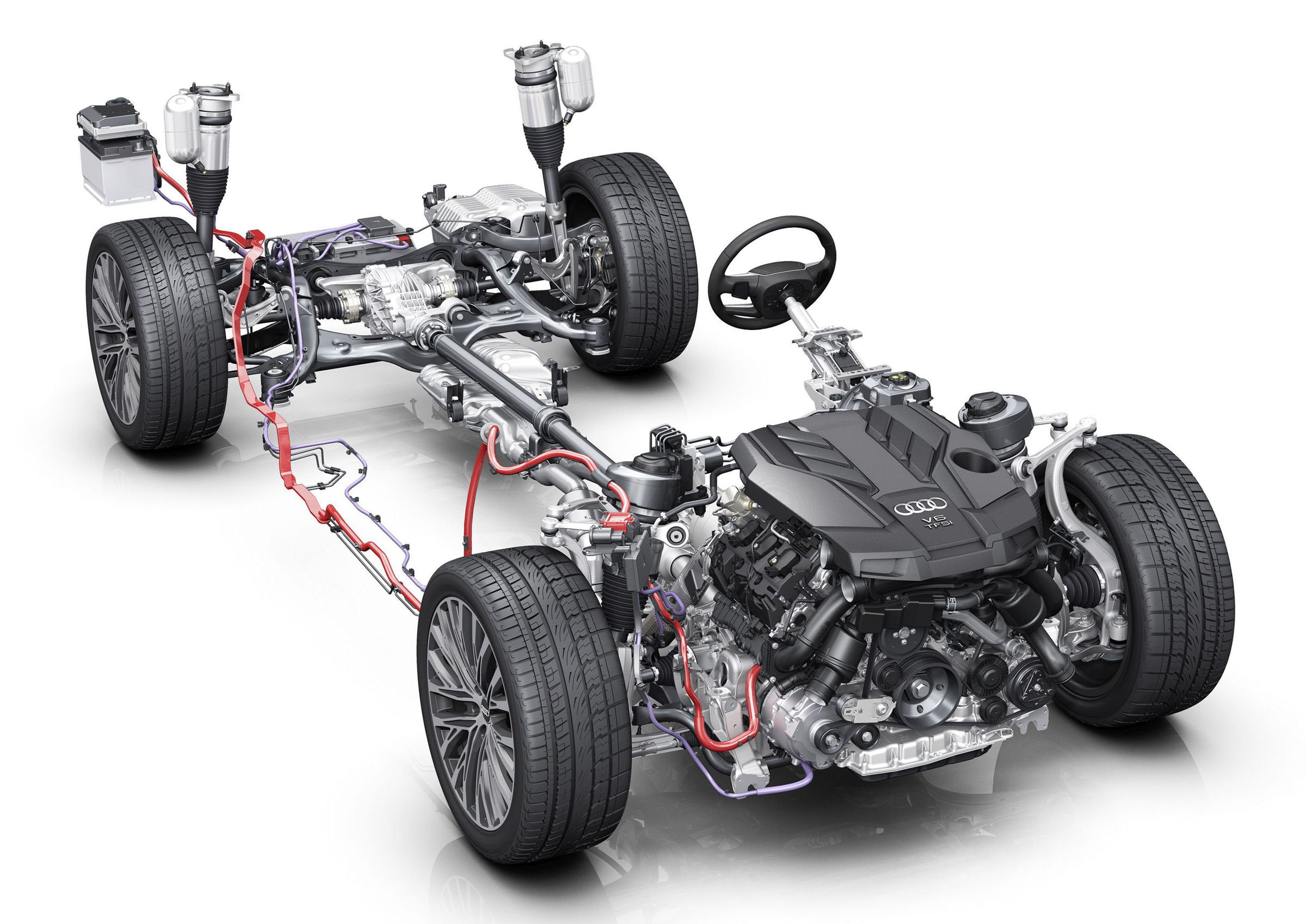 Drive System Audi Mediacenter It Was An Hydraulically Controlled Rear Wheel Transmission Mild Hybrid 48 Volt Drivetrain