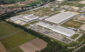Audi manufacturing facility Münchsmünster (aerial photograph)