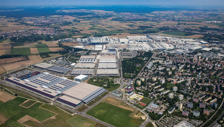 Audi-Standort Ingolstadt (Luftaufnahme)