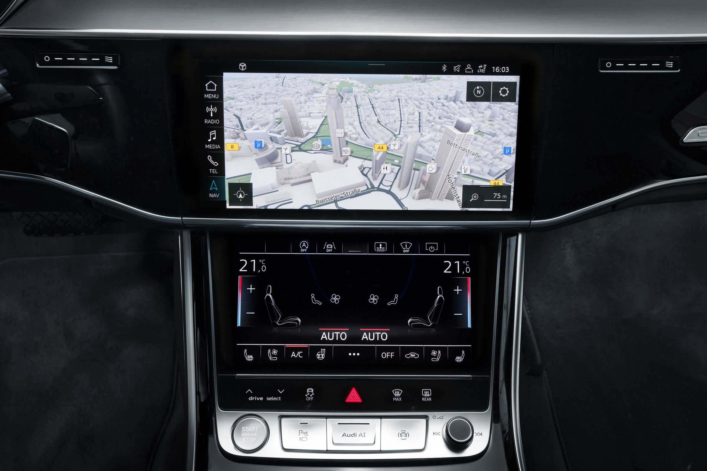 Infotainment Audi Mediacenter 2005 A4 Radio Navigation Technology At The Highest Level