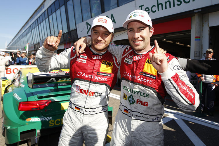 Timo Scheider and Mike Rockenfeller