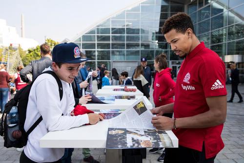 Basketball players from FC Bayern drive Audi