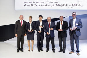 """Auszeichnung für herausragende Erfindungen bei der erstmals stattfindenden """"Audi Inventors Night"""":"""