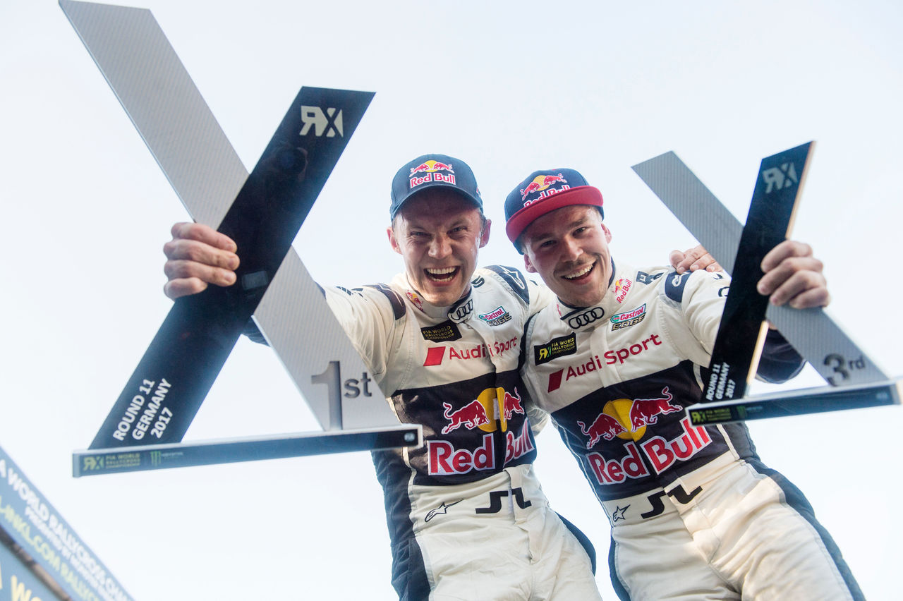 One, two, three, quattro! Fourth victory in 2017 World RX for Audi driver Ekström