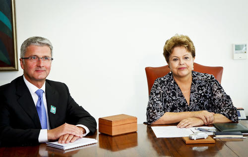 As of 2015, the Ingolstadt-based automobile manufacturer will produce cars in São José dos Pinhais, Brazil.
