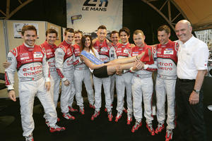Audi in Le Mans begeistert empfangen