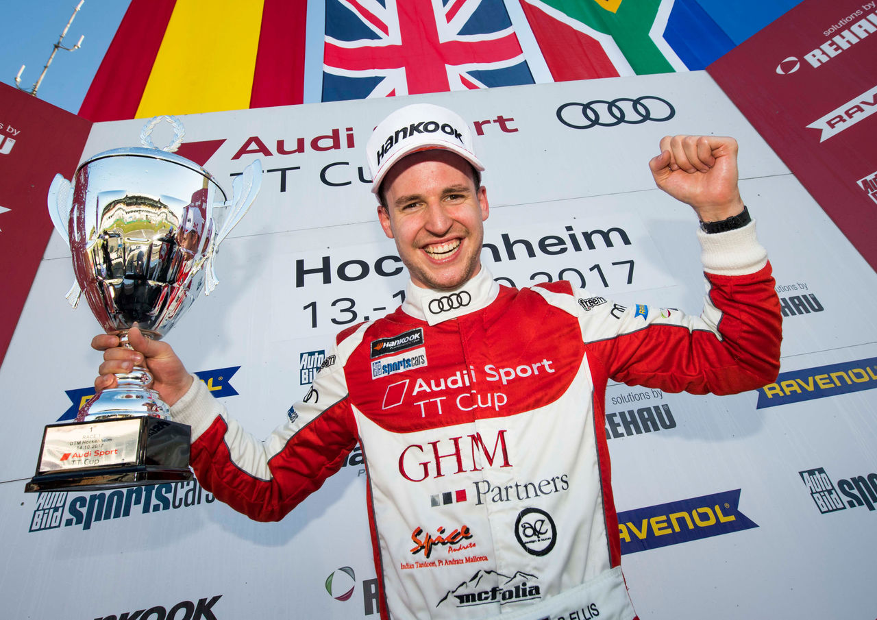 Philip Ellis wins the 2017 Audi Sport TT Cup