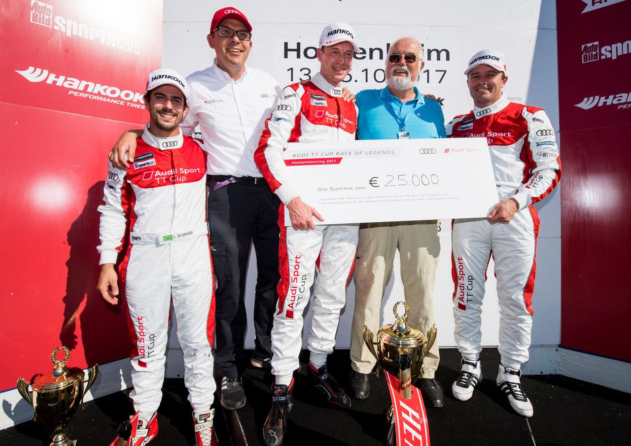Frank Stippler wins the Audi TT cup Race of Legends