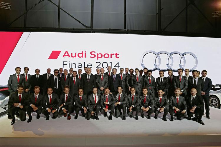 Audi feiert seine erfolgreichen Motorsportler