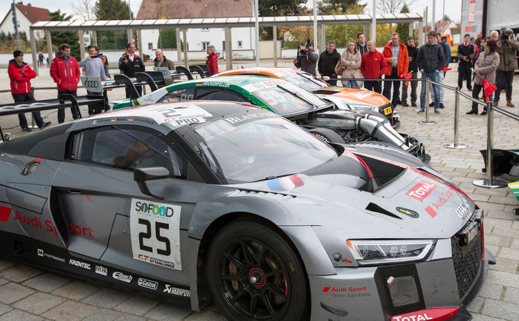 Employees and fans at Audi Forum Ingolstadt