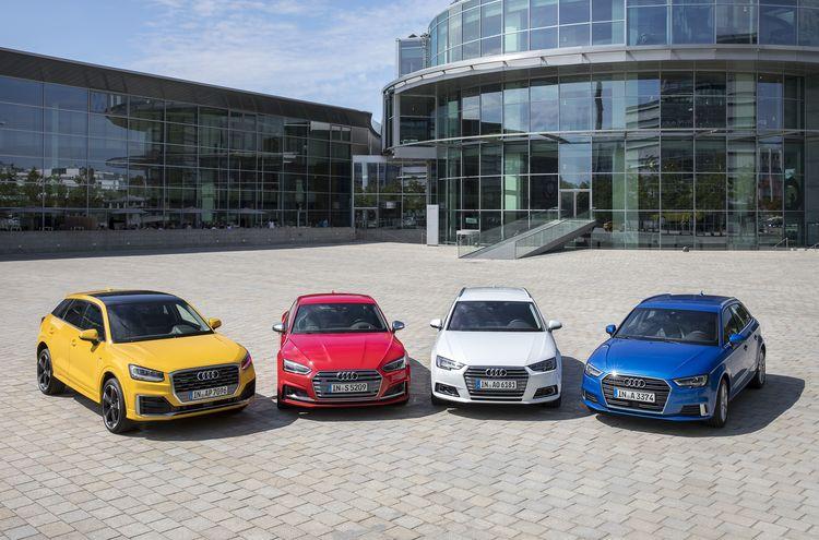 Am Stammsitz der AUDI AG in Ingolstadt werden die Modelle Audi Q2, Audi A3, Audi A4 und des Audi A5 produziert.