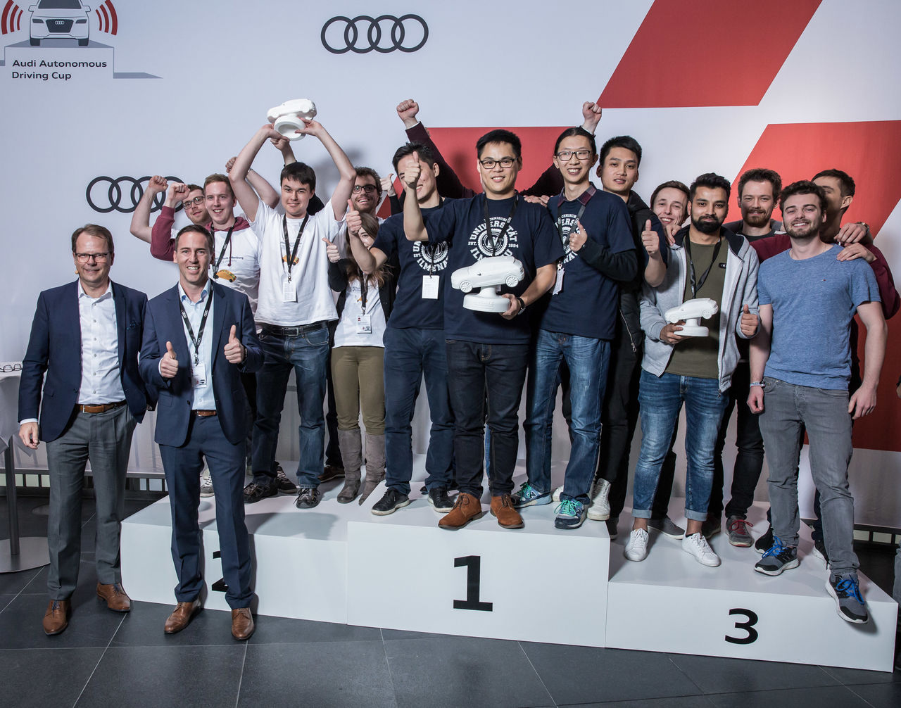Team AFILSOP of the Ilmenau University wins  ||Audi Autonomous Driving Cup 2017
