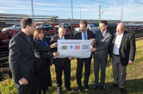 Bahnhalt am Audi-Werkgelände