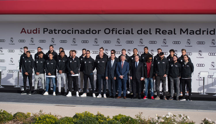 Audi hands over company cars to Real Madrid stars