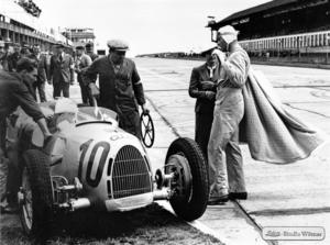 Hans Stuck - star of the 1930s at the Nürburgring in 1937