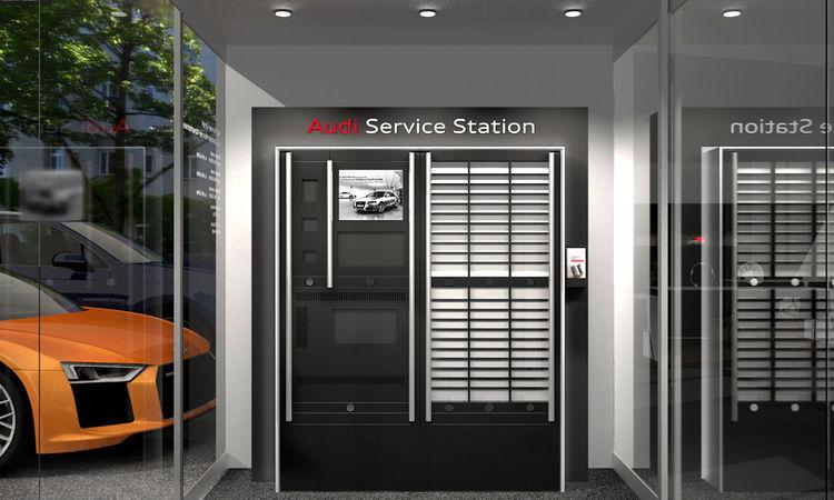 Audi Service Station: 24h-Dienstleistungen für höchsten Kundenkomfort