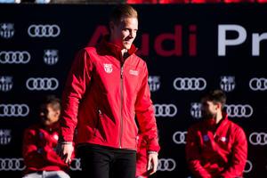 Fußballer des FC Barcelona fahren Audi