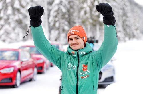 German ski jumpers enjoy Audi driving experience