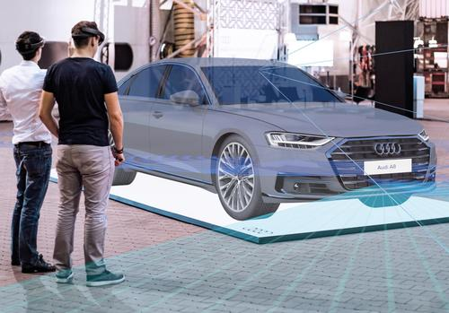 Virtuelles Exponat im Audi Forum Neckarsulm zeigt Technik des neuen Audi A8