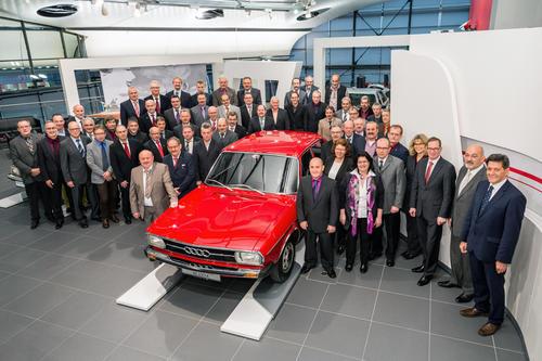 Audi ehrt Jubilare: Vier Jahrzehnte bei den Vier Ringen