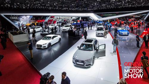 Audi-Pressekonferenz auf Genfer Autosalon 2018 im Livestream