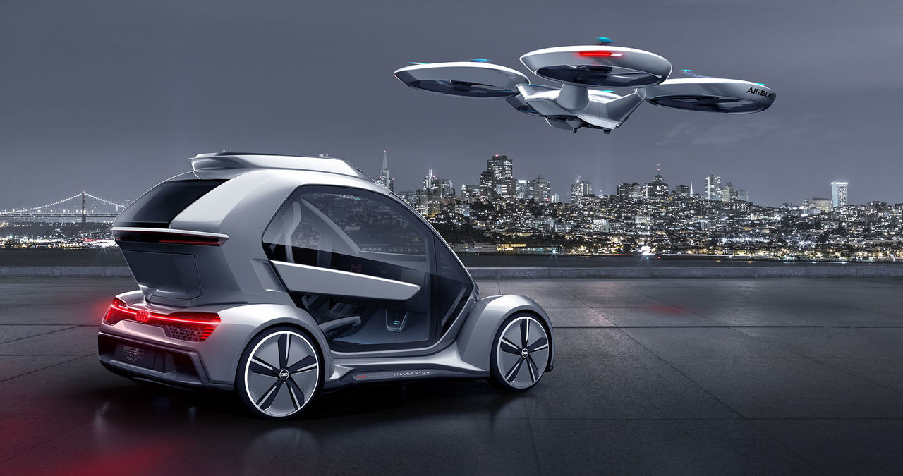 Audi, Italdesign and Airbus combine self-driving car and passenger drone