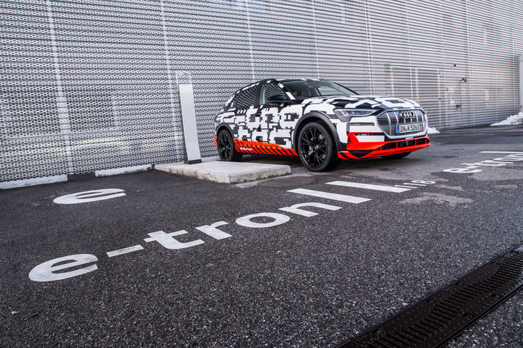 The Audi e-tron prototype in Geneva