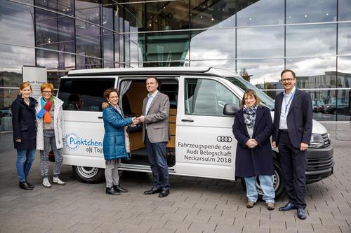 Audi-Mitarbeiter machen Deutschen Kinderschutzbund in Heilbronn mobil