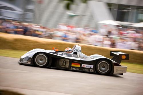 Le-Mans-Champions im Audi museum mobile