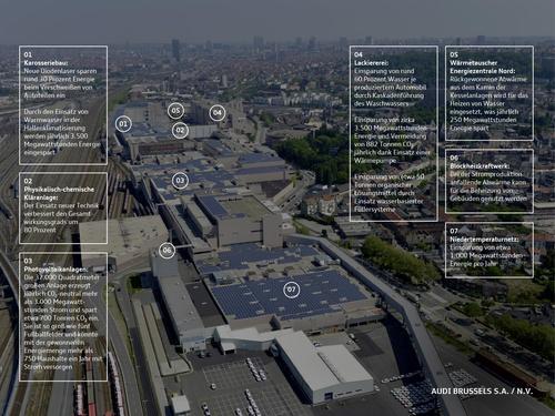 Audi Brussels erhält Zertifikat  für CO2-neutrale Automobilproduktion