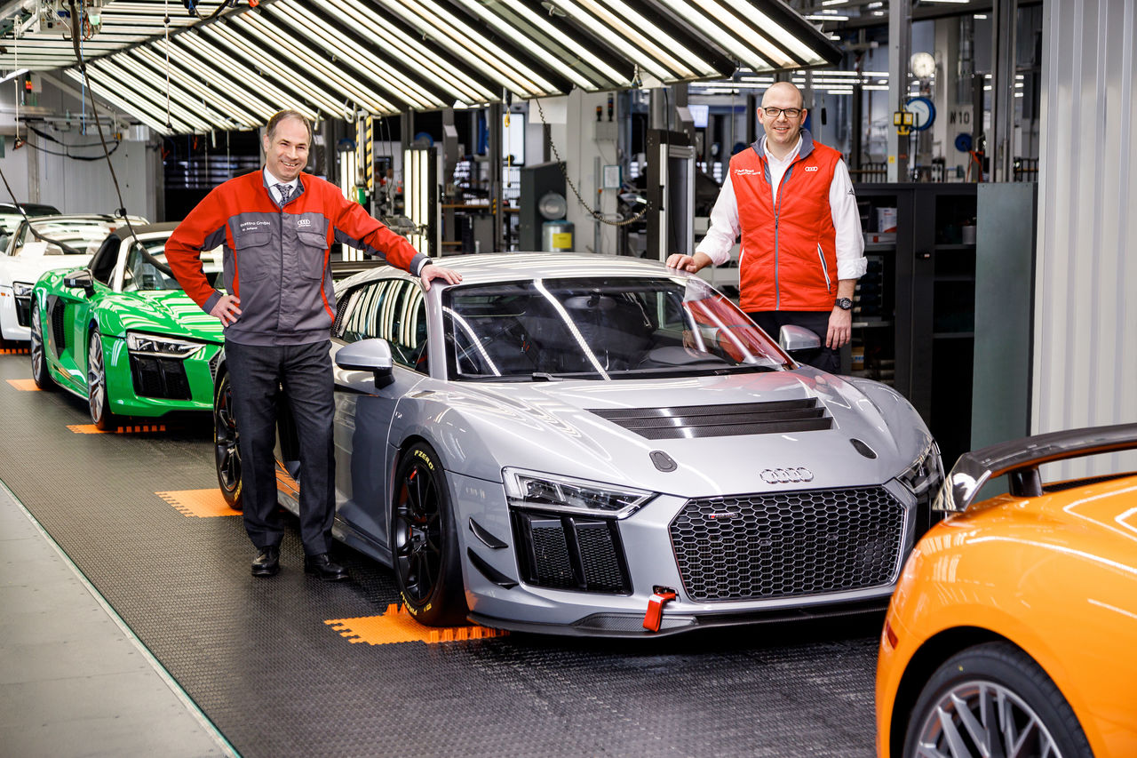 Fully integrated: 50th Audi R8 LMS GT4 produced at Böllinger Höfe