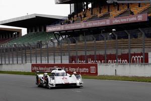 Audi R18 e-tron quattro bereit für offiziellen Testtag in Le Mans
