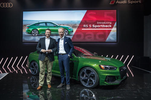 Audi RS 5 Sportback world premiere in New York.