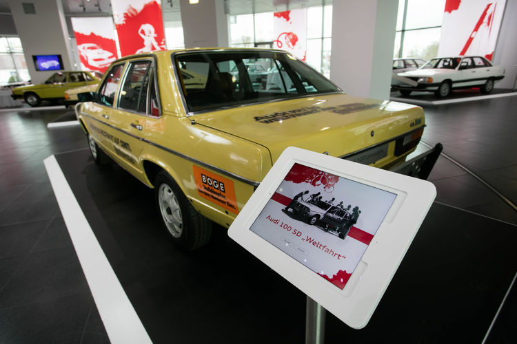 """From 0 to 100"" at Audi museum mobile"